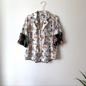 Joie silk blouse top s small